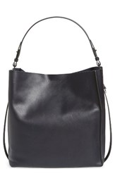 Allsaints 'Paradise North South' Calfskin Leather Tote Blue Navy