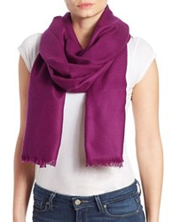 Lord And Taylor Oversize Wool Cashmere Wrap Scarf Plum