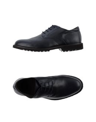 Canali Lace Up Shoes Dark Blue