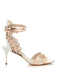 Sophia Webster Micah Angel Wing Leather Sandals White Gold