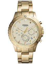 Fossil Men's Chronograph Crewmaster Gold Tone Stainless Steel Bracelet Watch 46Mm Ch3061
