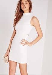 Missguided Open Back Bodycon Dress White White