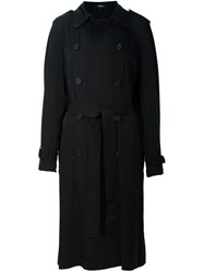 Theory Double Breasted Coat Black