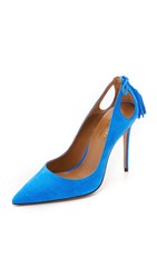 Aquazzura Forever Marilyn Pumps Mondrian Blue