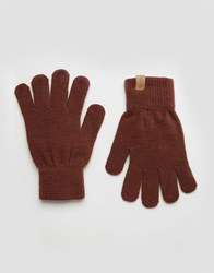 Selected Leth Gloves Red