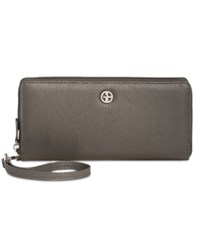 Giani Bernini Softy Slim Zip Around Wallet Only At Macy's Grey