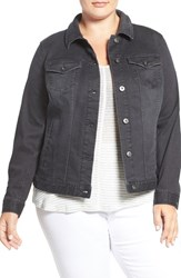 Vince Camuto Plus Size Women's Two By Grey Denim Jacket Slate Wash