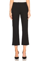 Helmut Lang Cropped Flare Pants In Black