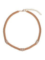 Mikey Metal Chain Crystal Cylinder Necklace