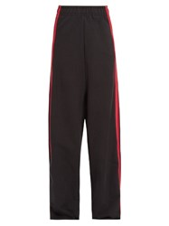 Vetements Side Striped Wide Leg Track Pants Black