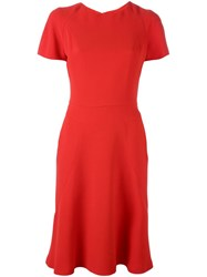 Alexander Mcqueen Short Sleeve Flared Dress