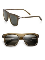 Salvatore Ferragamo 52Mm Wayfarer Sunglasses Brown Olive