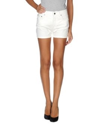 Trussardi Jeans Denim Shorts White