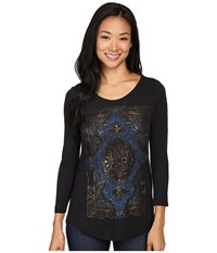 Lucky Brand Watercolor Exploded Rug Tee Jet Black Women's T Shirt