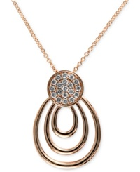 Effy Collection Pave Rose By Effy Diamond Pave Round Loop Pendant 1 5 Ct. T.W. In Two Tone 14K Gold