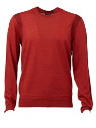Lanvin Crew Neck Sweater Red