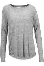 Vince Marled Stretch Jersey Top Gray