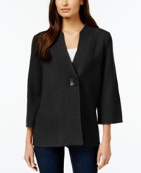 Jm Collection One Button Wool Sweater Coat Only At Macy's Deep Black