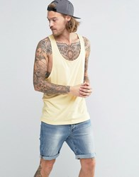 Asos Vest With Extreme Racer Back In Yellow Yellow