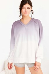 Out From Under Oversized V Neck Pullover Sweatshirt Pink
