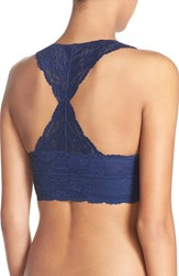 Women's Free People Racerback Galloon Lace Bralette Navy Blue