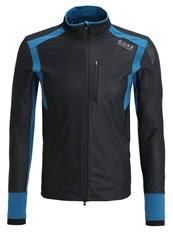 Gore Running Wear Air Sports Jacket Black Ink Blue