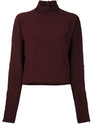 Mcq By Alexander Mcqueen High Neck Blouse Pink And Purple