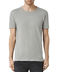 Allsaints Figure Raw Edge Tee Putty Gray