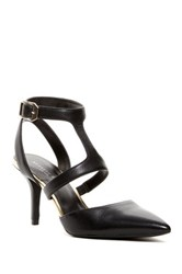 Kenneth Cole Laird Pointed Toe Strappy Pump Black