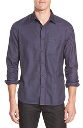 Men's Wallin And Bros. Trim Fit Twill Utility Shirt Navy Indigo Gd