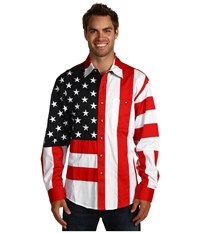 Scully Patriot Shirt Red White Blue Men's Long Sleeve Button Up Multi