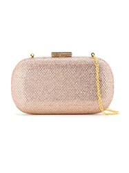 Serpui Embellished Clutch Bag Nude And Neutrals