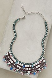 Anthropologie Archimage Bib Necklace Silver