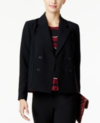Alfani Double Breasted Blazer Only At Macy's Deep Black