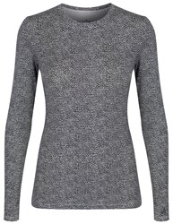 Cuddl Duds Long Sleeve Crew Neck Top Animal
