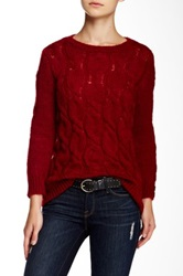 Wooden Ships Helena Cable Knit Sweater Red