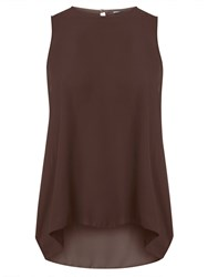 Dorothy Perkins Dip Back Shell Top Brown