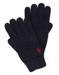Polo Ralph Lauren Navy Merino Wool Gloves Blue