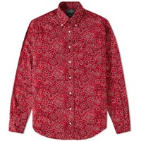Gitman Brothers Vintage Bandana Print Shirt Red