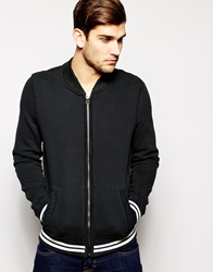 Abercrombie And Fitch Varsity Sweat Bomber Black