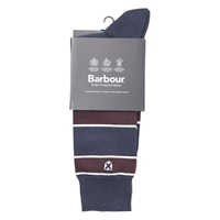 Barbour Hexham Stripe Socks Navy