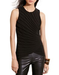 Lauren Ralph Lauren Ethelred Pressed Pleat Jersey Tank Black