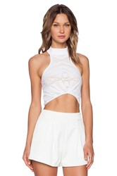 Whitney Eve Windsor Crop Top White