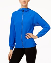 Calvin Klein Performance Stretch Woven Hooded Jacket Royal Blue
