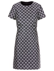 Sugarhill Boutique Betsy Jacquard Shift Dress Grey