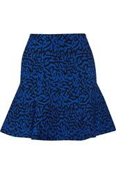 Issa Maisie Stretch Jacquard Knit Mini Skirt Blue