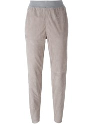 Fabiana Filippi Stretch Waist Tapered Trousers Nude And Neutrals