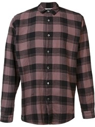 Robert Geller 'The Long Plaid' Shirt Pink Purple