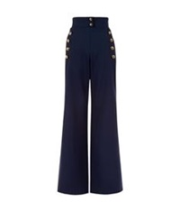 Chloe Sailor Wide Leg Trousers Navy