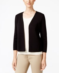 Charter Club Open Front Cardigan Only At Macy's Deep Black